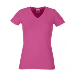 Camiseta mujer cuello pico FRUIT OF THE LOOM 61-382-0