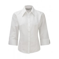 Camisa ajustada Tencel RUSSELL COLLECTION 954F Mujer Manga 3/4