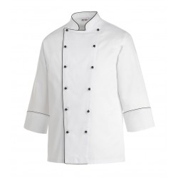 Chaquetilla de cocina EGOCHEF 102008 BLACK PIPING
