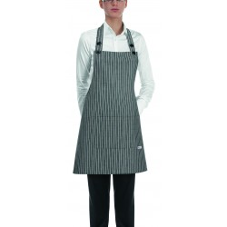 Delantal con peto unisex EGOCHEF 702066 NEW GREY STRIPE (Pack 2 unidades)