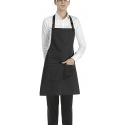 Delantal con peto unisex EGOCHEF 702002 BLACK (Pack 2 us)