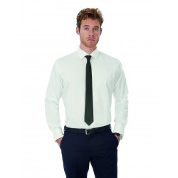 Camisa black Tie LSL/Men Shirt B&C SMP21