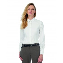 Camisa Popelina Stretch black Tie LSL/Women B&C SWP23