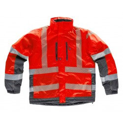 Parka acolchada, impermeable y combinada WORKTEAM S9262
