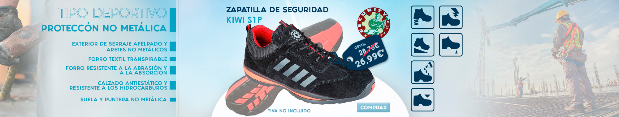 Zapatilla de seguridad Security line Kiwi