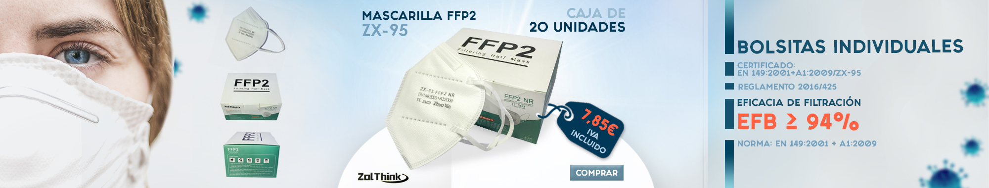 Mascarilla FFP2 Zol Think